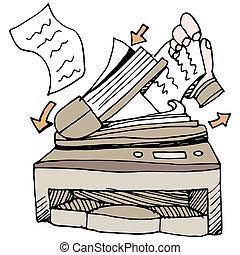 dokument, scanner
