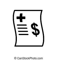 dokument, szablon, całowanie, -, wektor, projektować, ikona