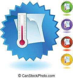 dokument, temperatur