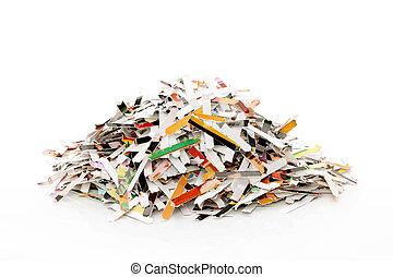 dokumentförstörare, papper