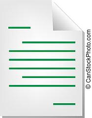 dokumentum, levél, ikon
