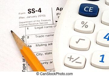 dokumenty, opodatkować, przybory