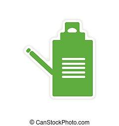 dokumenty, rzeźnik, realistyczny, papier, projektować, ikona