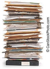 dokumenty, stóg