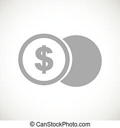 dolar biją, czarnoskóry, ikona
