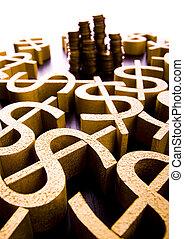 dolar, bystrý, finanční machinace, nasycený, pojem