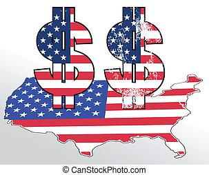 dolar, cégtábla