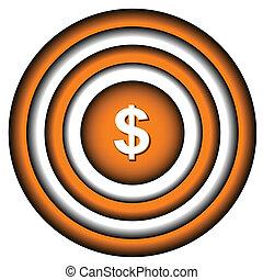 dolar, ikona