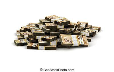 dolar, stóg, kanadyjczyk