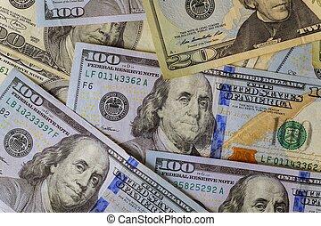 dolar, systém, nám, obchod, banknotes, díl, hospodářský, společnost
