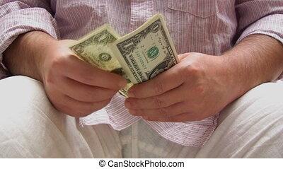 dolary, odliczający, człowiek