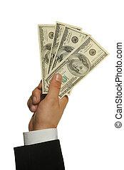 dolary, w, niejaki, ręka, od, przedimek określony przed rzeczownikami, biznesmen