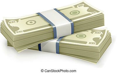 dolary, wektor, stóg