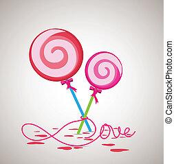 dolce, caramella, valentina, regalo