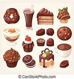 dolce, cioccolato, feste, dessert