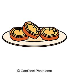 dolce, disegno, patate