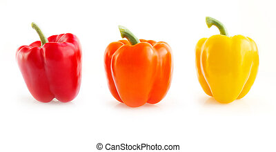 dolce, giallo, e, rosso, peppers.