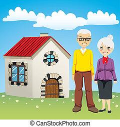 dolce, pensionamento, casa