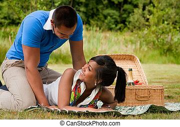 dolce, picnic, coppia