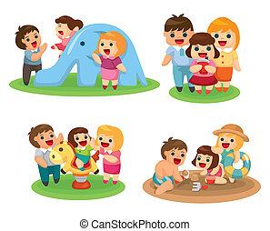 dolce, set, famiglia