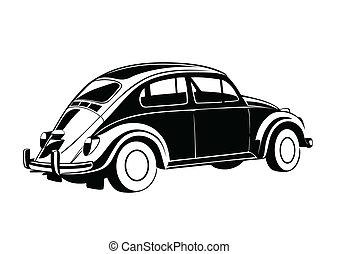 dolce, vecchio, auto, nero