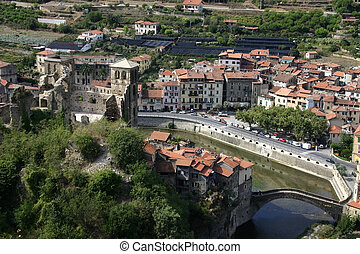 Dolceacqua Bridge - Bridge over the Nervia River in...