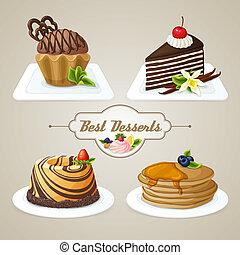 dolci, dessert, set