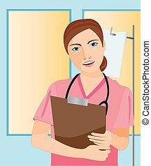 dolgozó, ápoló