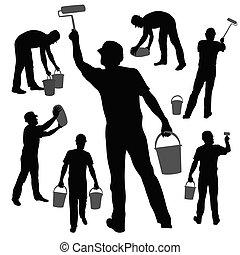 dolgozó, szobafestő