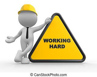dolgozó, terület