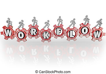 dolgozó, workflow, emberek, workforce, együtt, csapatmunka, fogaskerék-áttétel