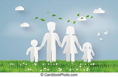 dolgozat, család, fű, fiel
