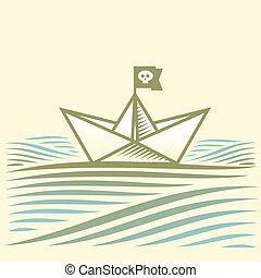 dolgozat, kalóz, csónakázik