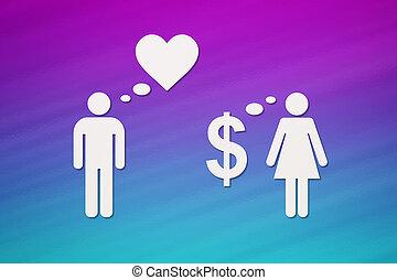 dolgozat, párosít, szeret, vs, pénz., elvont, fogalmi arcmás