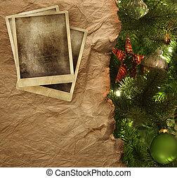dolgozat, pergament, háttér, karácsony