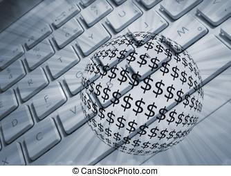 dollár, és, euros
