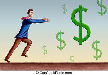 dollár, jelkép