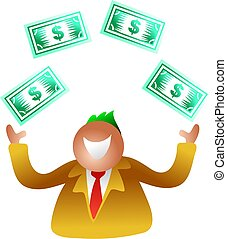 dollárok, bűvészkedés