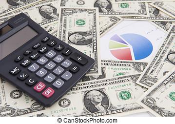 dollárok, dollárok, megtakarítás, fogalom, számítógép,...