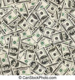 dollárok, seamless, háttér.