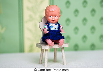 Doll and chair
