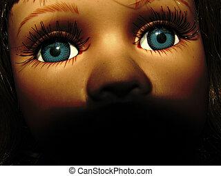 doll., brinquedo, colorido, rosto