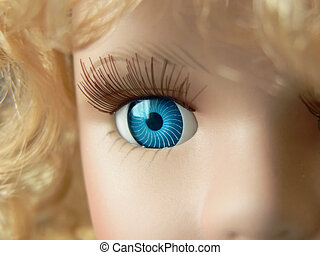 Doll eye close up - Doll face close up