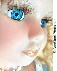 Doll face closeup