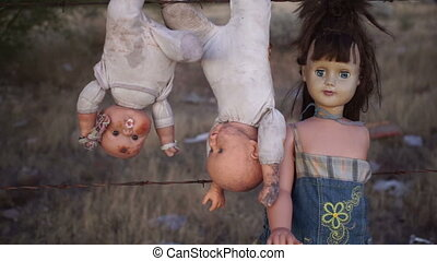 Doll Horror Dolls Hanging Handheld - Handheld creepy and...