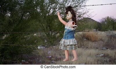 Doll Horror Hanging Handheld Long