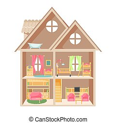 Doll House Illustrations And Clip Art 671 Doll House Royalty Free