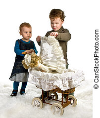 Doll in a cradle