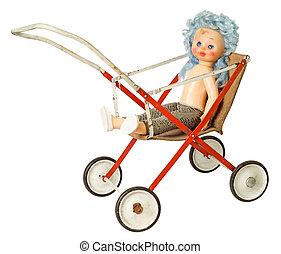 Doll in pram