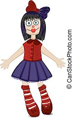 Doll isolated for Halloween